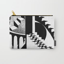 Abstraction. The illustration is monochrome. Carry-All Pouch