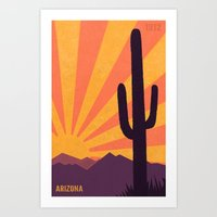 arizona Art Prints featuring Arizona by AtomicChild