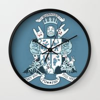 evil Wall Clocks featuring Bunnies are Evil by Anna-Maria Jung