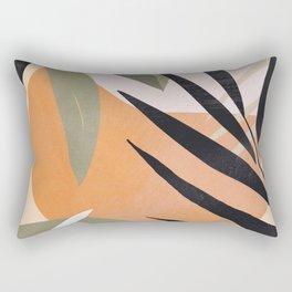 Abstract Art Tropical Leaves 2 Rectangular Pillow