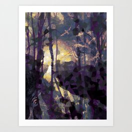 Outbound Crows Art Print