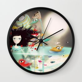 Light and Transparency illustration The Moon Wall Clock