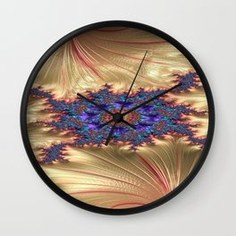 Geometric Landscape with Tender Exclusion Wall Clock