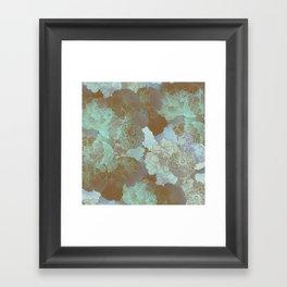 Cambridge Blue Floral Hues Framed Art Print