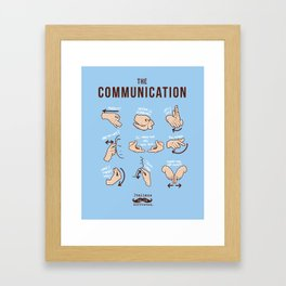 Italians Do It Different - The Communication Framed Art Print