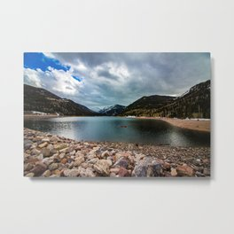 Canoeing with the Clouds Metal Print
