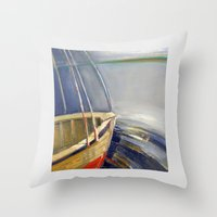 skyline Throw Pillows featuring Skyline by Vilnis Klints