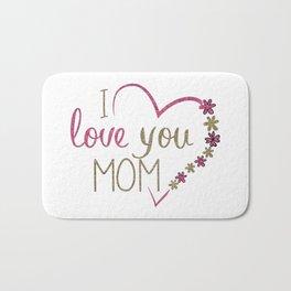 Love Mom Mothers Day Heart Bath Mat