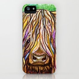 Wee Hairy Highlin Coo iPhone Case
