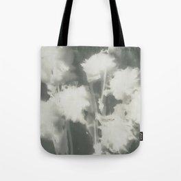 Gray Dahlias Tote Bag