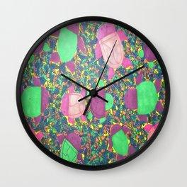 Turtles on Rainbow Rocks Wall Clock