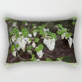 RIBES SANGUINEUM CURRANT FLOWERS SPRINGTIME Rectangular Pillow