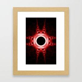 Red Abyss Framed Art Print