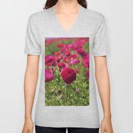 Flower Field Fantasy by Reay of Light Photography Unisex V-Neck