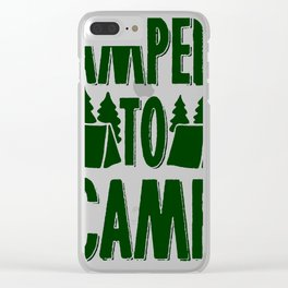 AMPED TO CAMP RACERBACK TANK Clear iPhone Case