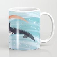 orca Mugs featuring Grandpa Orca by Freeminds