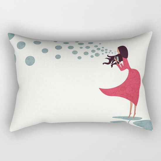 I'm bubbling Rectangular Pillow