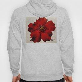 Red Winter Rose Hoody