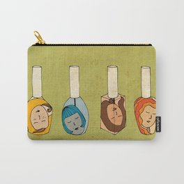 Some Girls Living In A Nailpolish Carry-All Pouch
