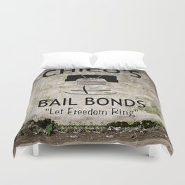Chico's Bail Bonds Duvet Cover
