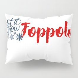 Snow in Foppolo Pillow Sham
