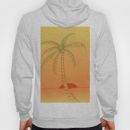 Palm Tree at Sunset Hoody