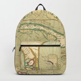 Vintage Map of The Caribbean (1707) Backpack