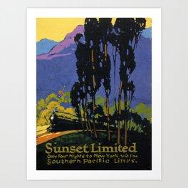Vintage poster - Sunset Limited Art Print