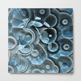 Reflections of A Fractal Fossil Metal Print