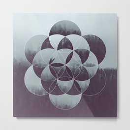 Sacred Geometry in the Forest Metal Print
