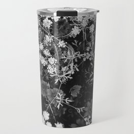 The Flowers (Black and White) Travel Mug