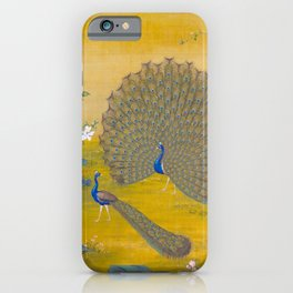 Peacock spreading its tail feathers - Lang Shining (Giuseppe Castiglione, 1688-1766 iPhone Case