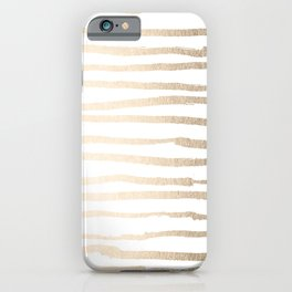 White Gold Sands Painted Lines iPhone Case