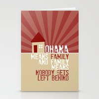 lilo and stitch Stationery Cards featuring Ohana Means Family - Lilo & Stitch by Crafts and Dogs