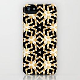 Art Deco Gold Foil Star Pattern iPhone Case