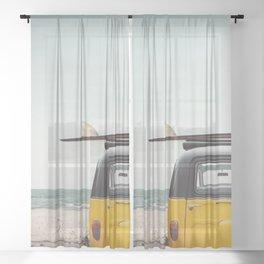Surfing van Sheer Curtain