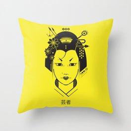 Minimal Geisha Throw Pillow