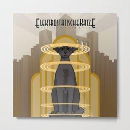 Elektrostatische Katze [Staticat] Metal Print