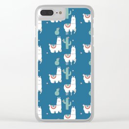 Llama and Cactus Clear iPhone Case