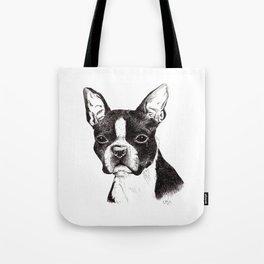 Boston Terrier Portrait Tote Bag