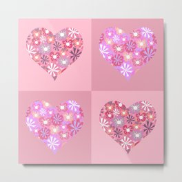 Hearts. Love. Peace. Metal Print