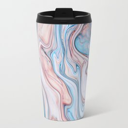 Marble| pink & blue Travel Mug