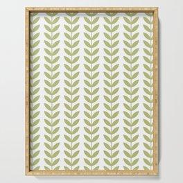 Scandinavian Mid Century Pattern Green Serving Tray