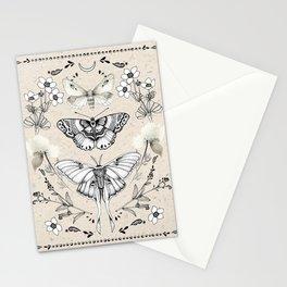 Three Moths Stationery Cards
