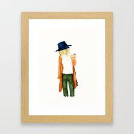 Fall Shades Fashion Illustration Framed Art Print