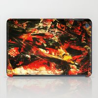 camp iPad Cases featuring Camp Fire by James Peart