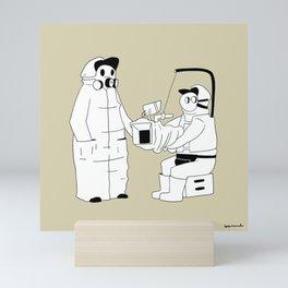 Panic on-set Mini Art Print