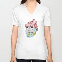 life aquatic V-neck T-shirts featuring Aquatic Life by Derek Eads