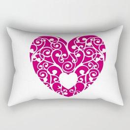 A pink Heart Rectangular Pillow