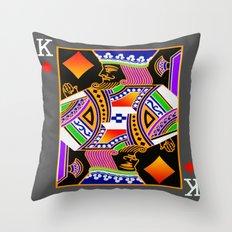 King of Diamonds Throw Pillow